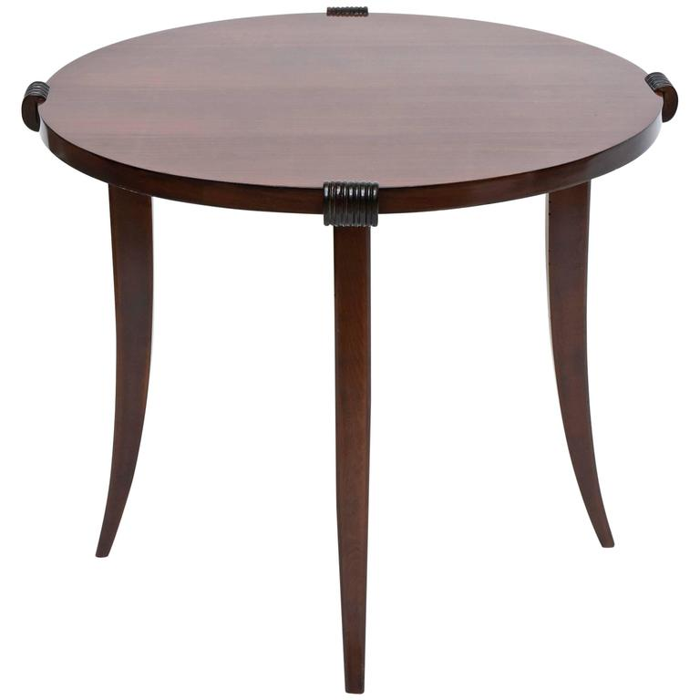 French Late Art Deco Rosewood Occasional Table or Gueridon, Maurice Jallot