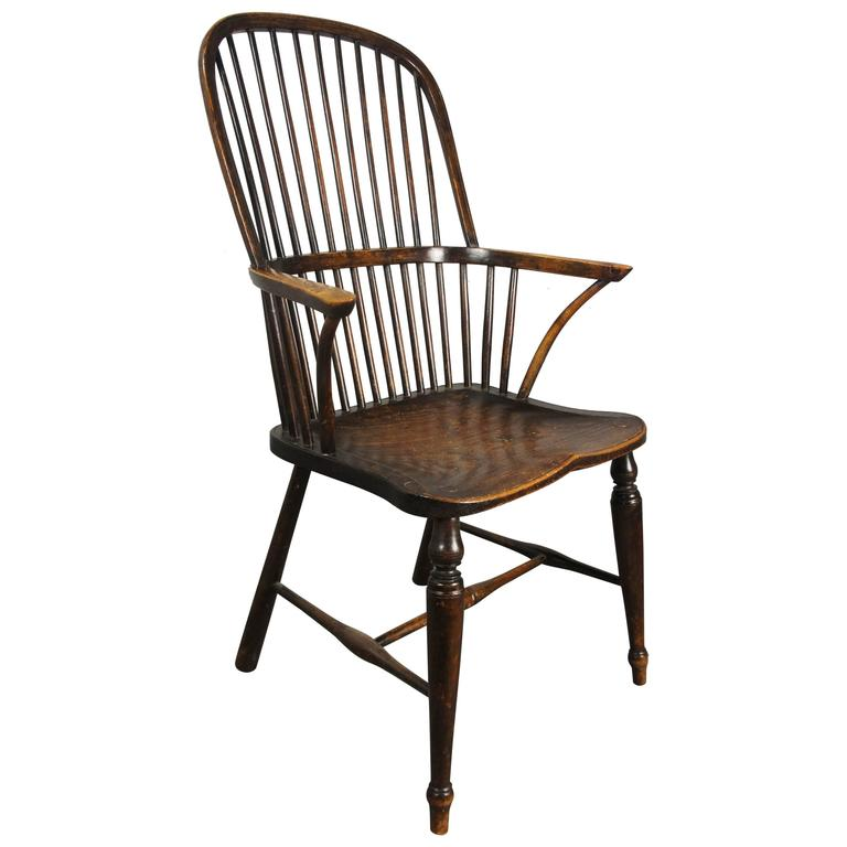 19th Century Stickback Hoop Windsor Chair