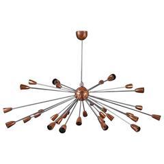 Sputnik Ceiling Lamp in the Style of Stilnovo, 1960s