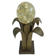 Ado Chale Bronze Table Lamp, France, 1960s, Signed