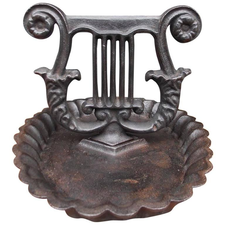 American Charleston Cast Iron Lyre Boot Scrape, Circa 1820