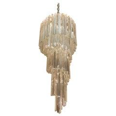Venini Elegant Chandelier Italian Design Murano Art Glass
