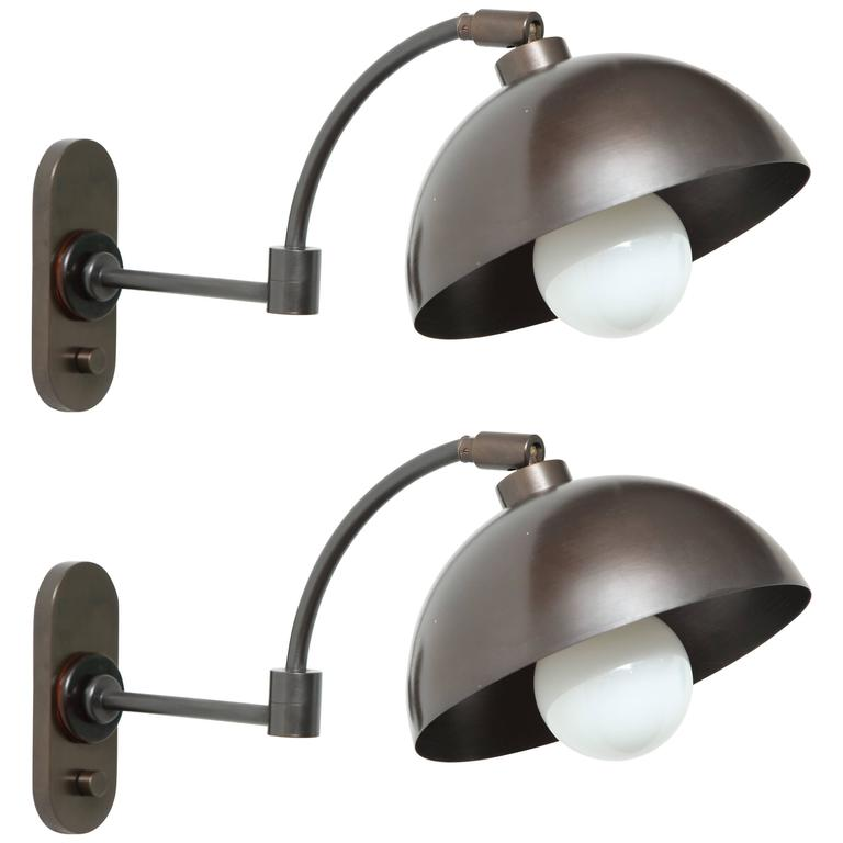1940s Austrian Dark Bronze Wall Lights 1