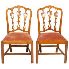 Rare Pair of George II Period Satinwood Chairs