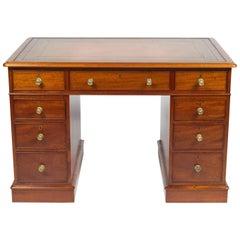 Tillman Georgian Style Mahogany Pedestal Desk