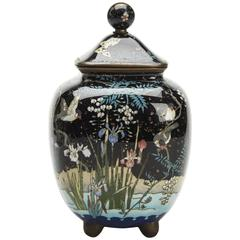 Japanese Meiji Cloisonne Lidded Jar , 19th Century