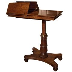 19th Century Georgian Adjustable Reading Table
