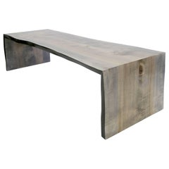Sentient Folded Maple Slab Live Edge Coffee Table with Driftwood Finish