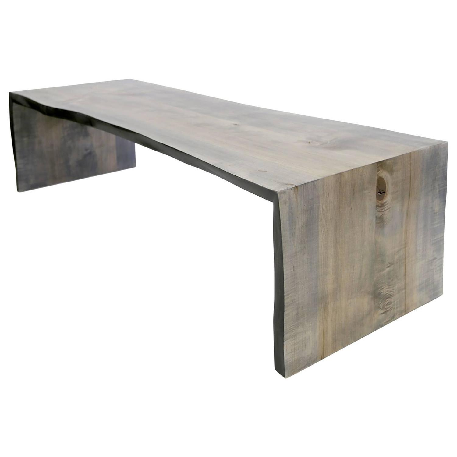 Driftwood tables 32 for sale at 1stdibs sentient folded maple slab live edge coffee table with driftwood finish geotapseo Choice Image