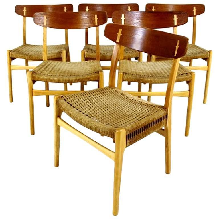 Set of Six Dining Chairs Ch23 by Hans J Wegner for Carl Hansen and Søn