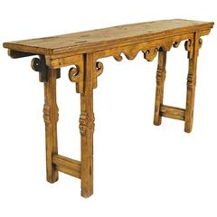 19th Century Chinese Provincial Console Table