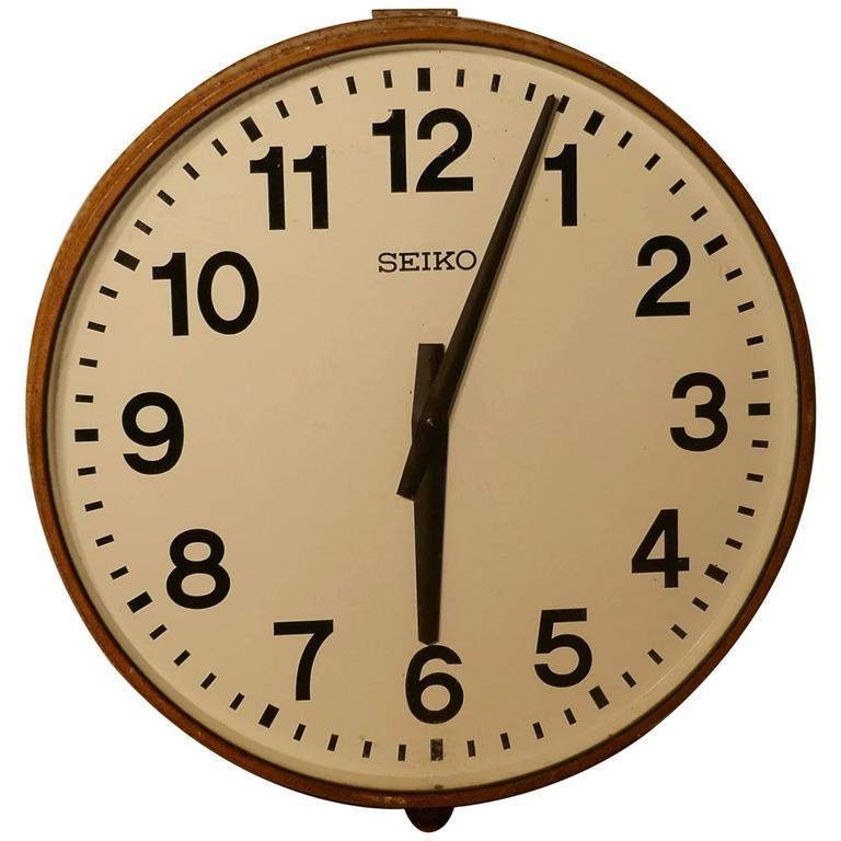 Very Seiko Industrial Wall Clock Slave Clock at 1stdibs