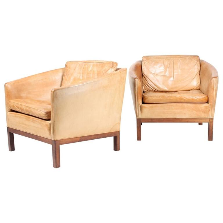 Pair of Lounge Chairs by Illum Wikkelsø