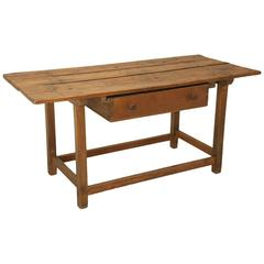 Antique French Work Table of Kitchen Island, circa 1700s