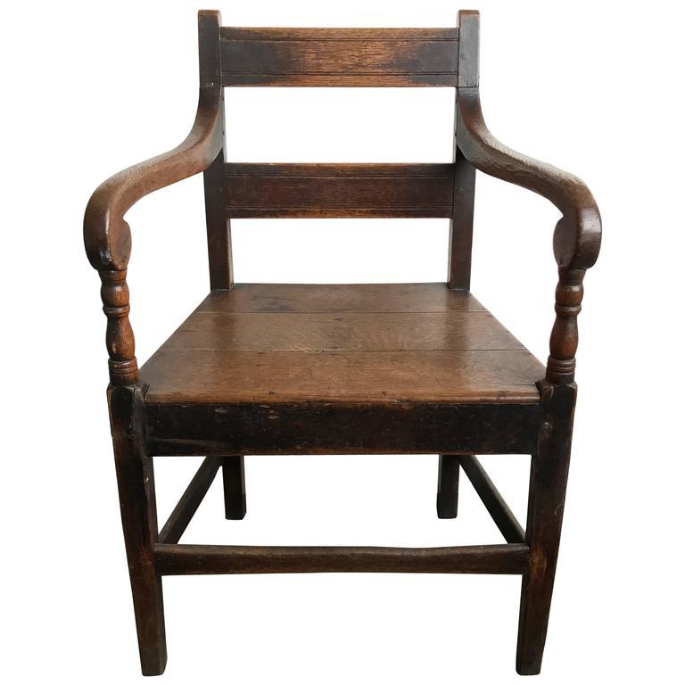 19th Century English Oak Armchair 1