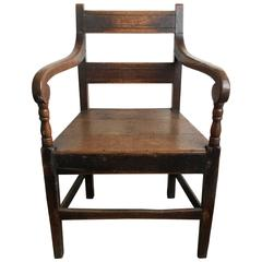 19th Century English Oak Armchair