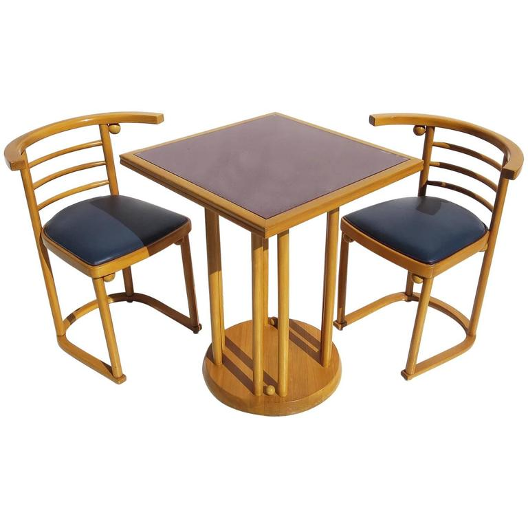 Josef Hoffmann Fledermaus Cafe Dining Set For Thonet For Sale