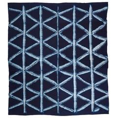 Yoruba Indigo Dye Resist Textile from Africa
