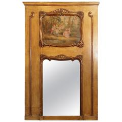 Antique French Painted Trumeau