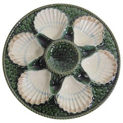 19th Majolica Oyster Plate Longchamp