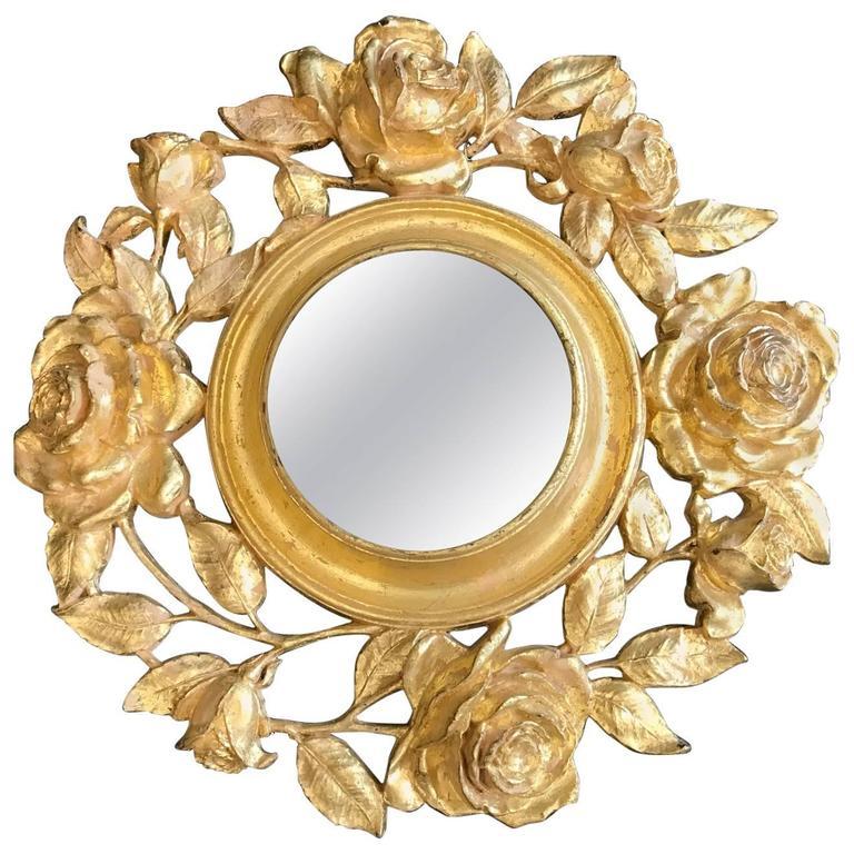 Gold Gilt Floral Mirror