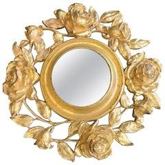 Gold Gilt Floral Mirror