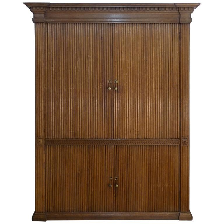 18th Century French Tambour Cabinet
