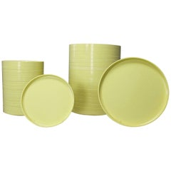 Massimo Vignelli Heller Dinnerware 20 Large Plates and 20 Small Plates Yellow