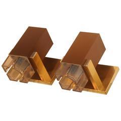 Pair of Wall Sconces Minimal Design Sciolari, 1970