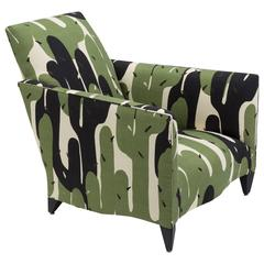 1940s Inspired Upholstered Armchair by Donghia, USA, 1970s
