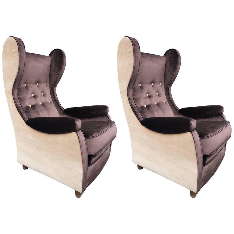 Beautiful Pair of Armchairs, Design Paolo Buffa, 1948