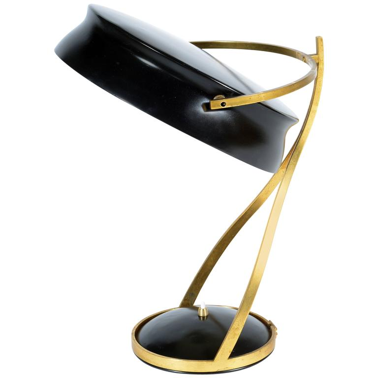 Mid-20th Century Adjustable Table Lamp Called Commander by Chiarini Milano