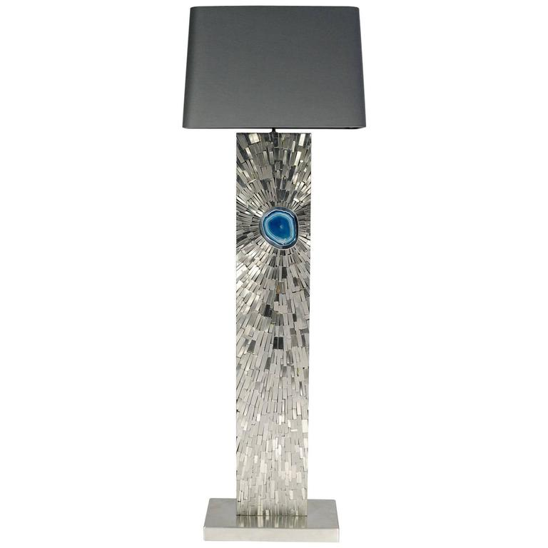 Floor lamp in mosaic stainless steel by stan usel for sale at 1stdibs floor lamp in mosaic stainless steel by stan usel for sale mozeypictures Choice Image