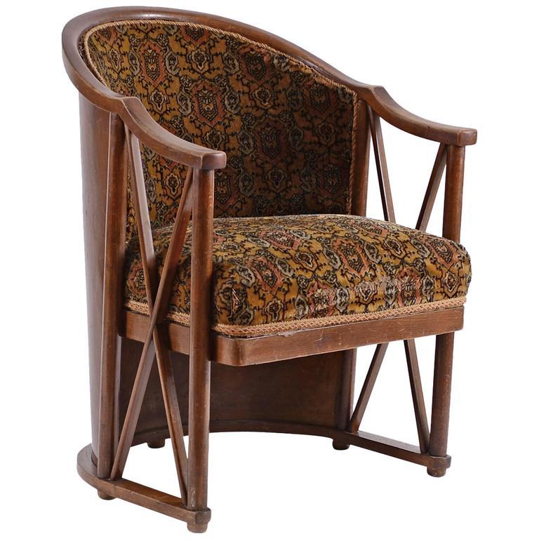 Josef Hoffmann 1908 Armchair, Original