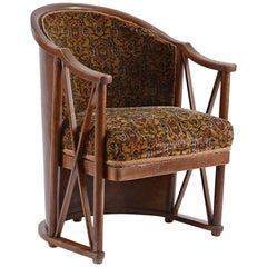 Original Josef Hoffmann 1908 Barrel-chair, Kohn, Jugendstil, early 20th century