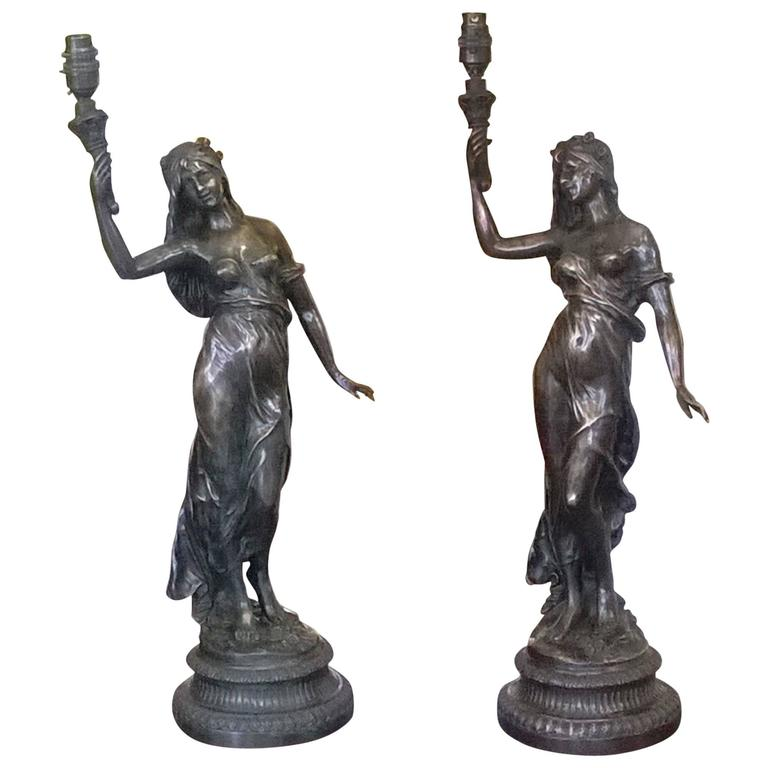 pair of bronze figurines for sale at 1stdibs. Black Bedroom Furniture Sets. Home Design Ideas