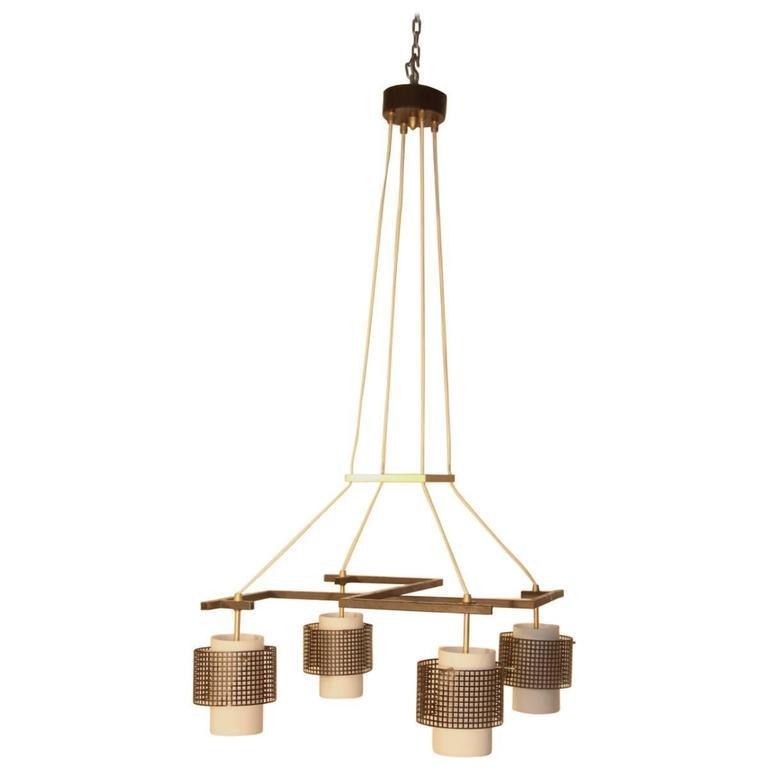 minimal lighting. Italian Midcentury Minimal Stilnovo Design Chandelier Minimal Lighting