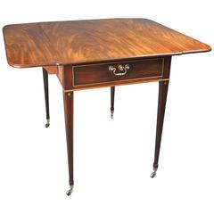 Hepplewhite Period Mahogany Pembroke Table