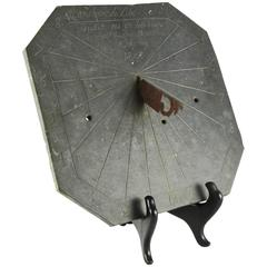 French Early 19th Century Engraved Octagonal Slate Sundial, Dated 1803