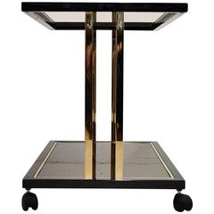 Belgo Chrome Mid-century Modern Two-Tier Serving Table