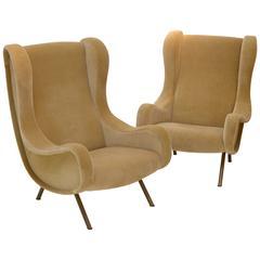 "Pair of ""Senior"" Zanuso Armchairs for Artflex"
