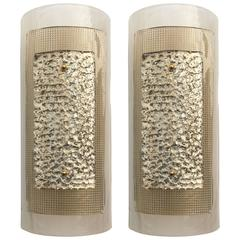 Pair of New Argento Murano Glass Wall Light
