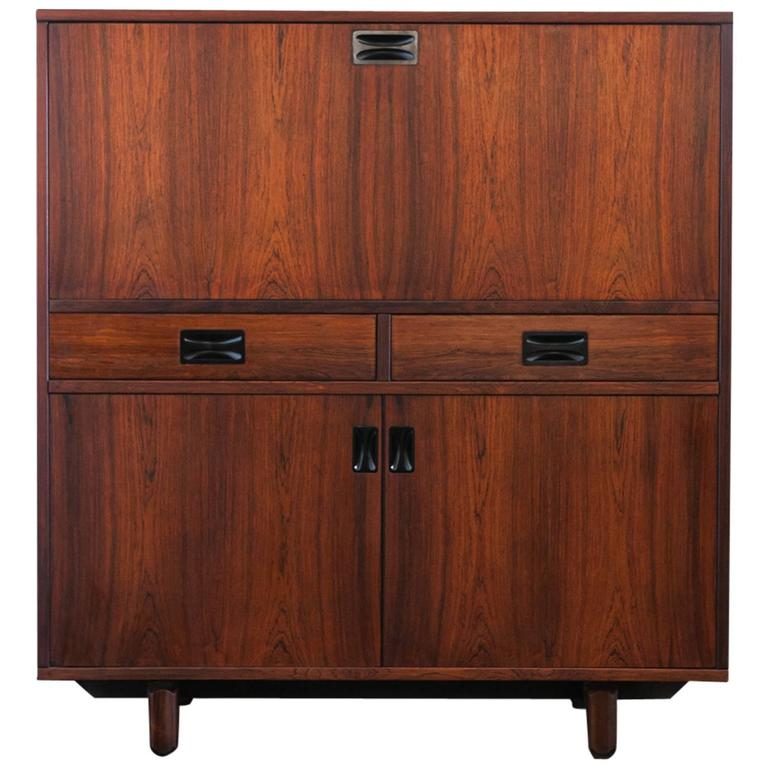 Italian Rosewood Credenza or High Sideboard by 'Stildomus', 1960s