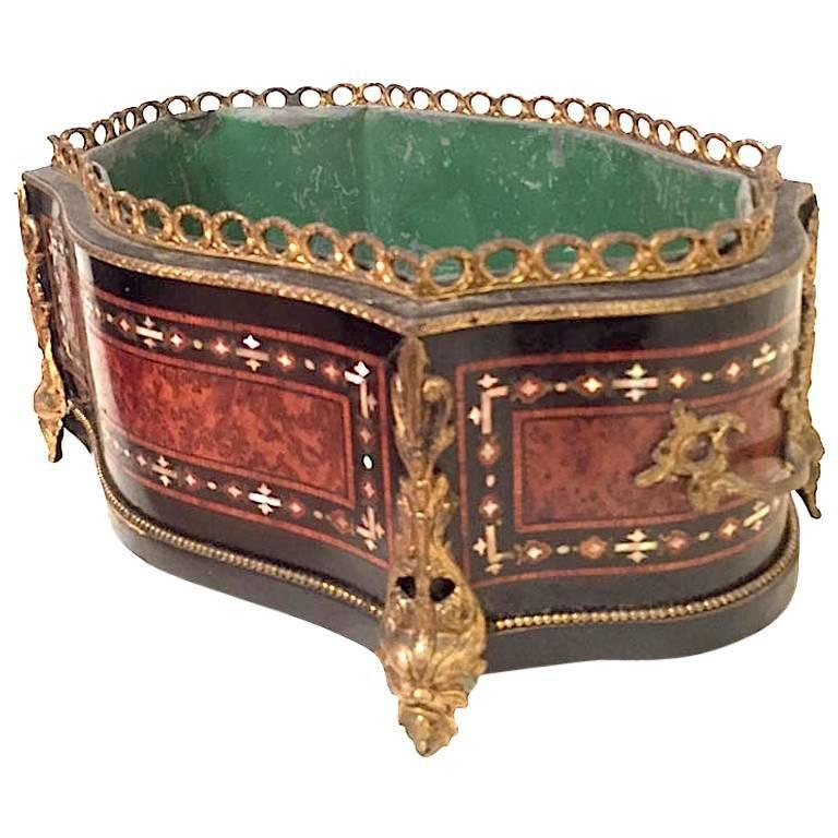 Late 19th century french napoleon iii boulle planter for Jardiniere napoleon 3