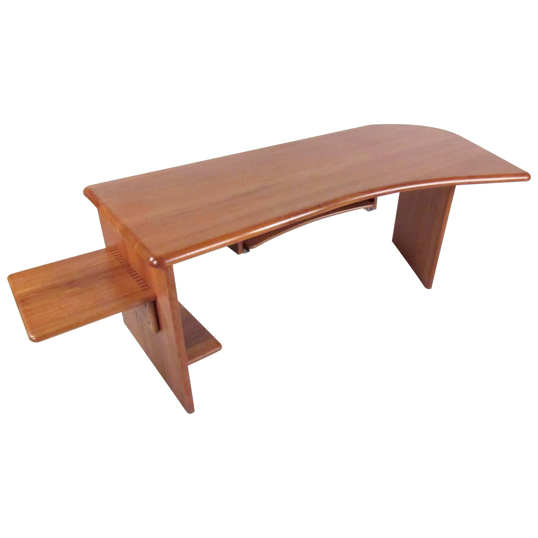 Large Scandinavian Modern Danish Teak Desk