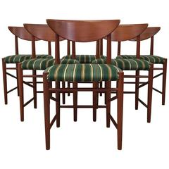 Set of Six 1960s Teak Dining Chairs by Peter Hvidt and Orla Mølgaard Nielsen