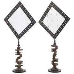 Exceptional Pair of Feliciano Bejar Celestial Magiscope Series Sculptures