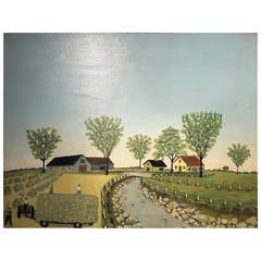 Montreal Museum of Fine Arts, Folk Art Painting, 72nd Spring Exhibition in 1955