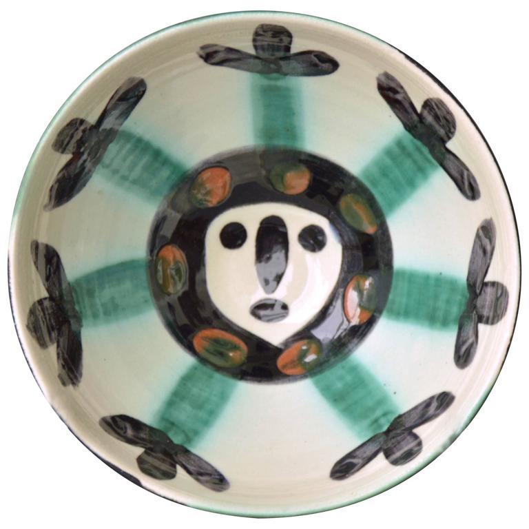 Pablo Picasso Madoura Ceramic Bowl Face, 1955