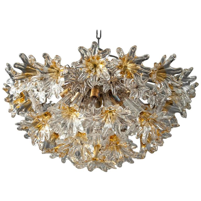 Ceiling Light by Venini &Co, Italy, 1970's For Sale